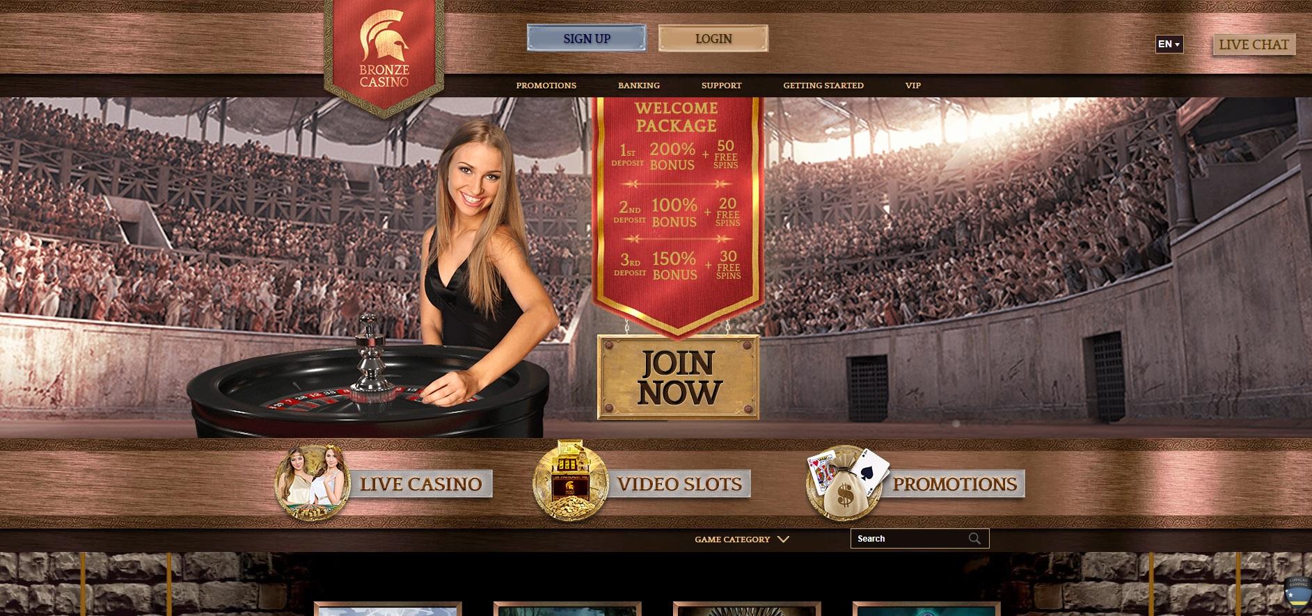 Bronze casino recensioni: bonus e giochi